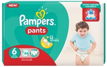 PAMPERS PANTS 44.000 Τεμ