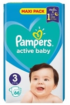 PAMPERS ACTIVE BABY 66.000 Τεμ