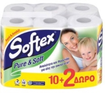 SOFTEX PURE & SOFT 12ΑΡΙ 1.488 Kg